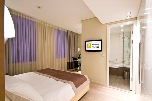 B aparthotel montgomery online booking brussels for Apart hotel a la maison