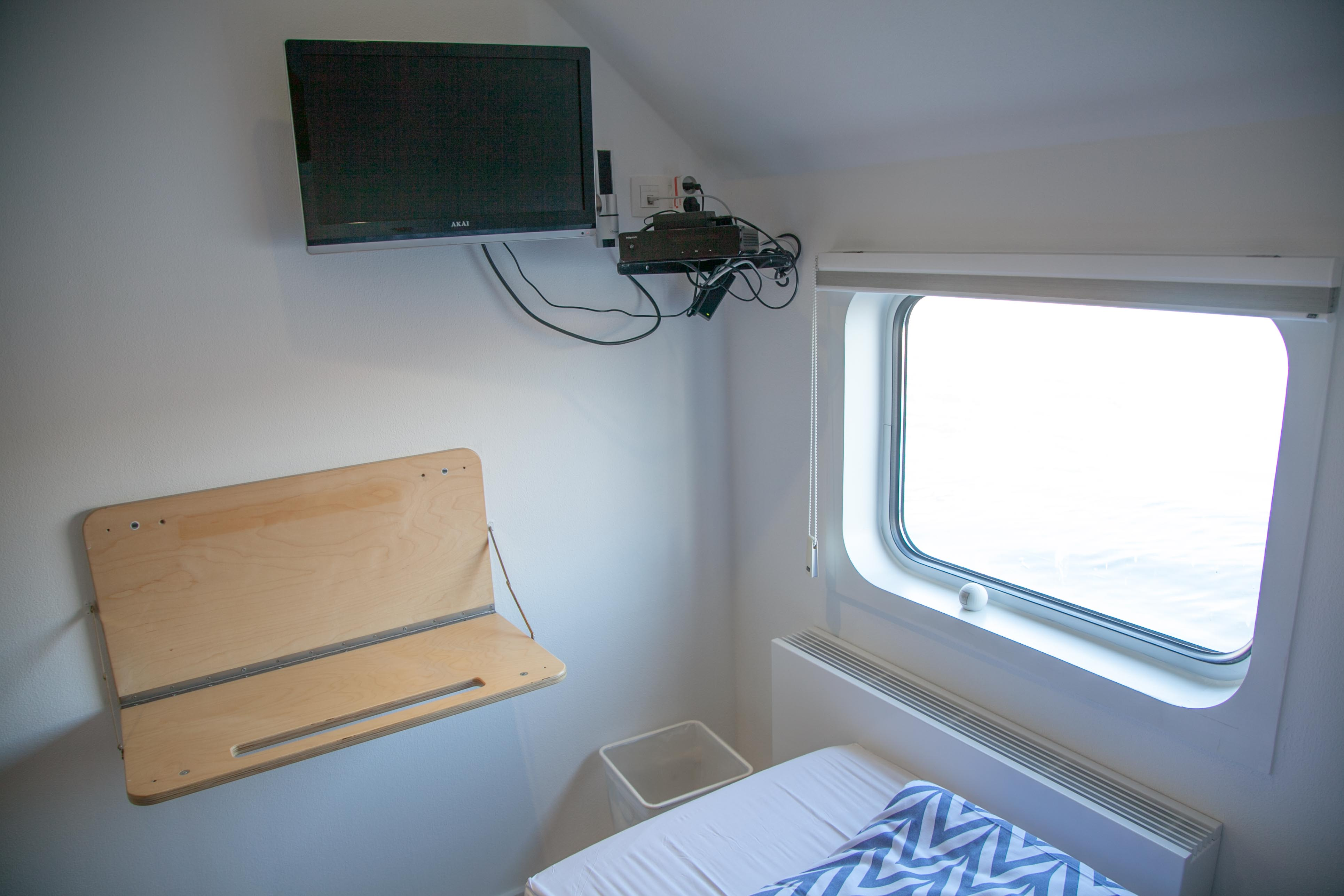 double cabin with TV